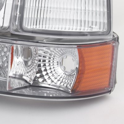 Ford F150 1992-1996 Clear Headlights and Bumper Lights Set
