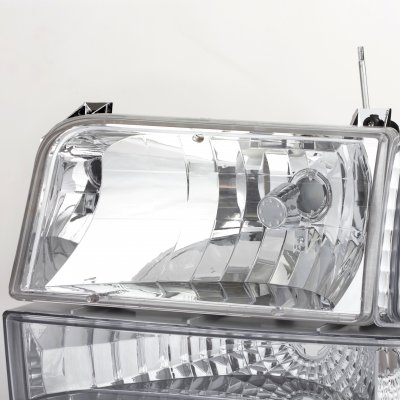 1992 Ford F250 Clear Headlights and Bumper Lights Set