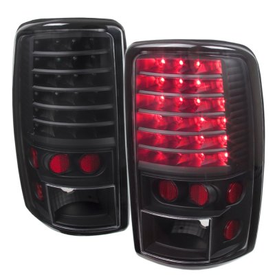 GMC Yukon 2000-2006 Black Headlights Set and LED Tail Lights