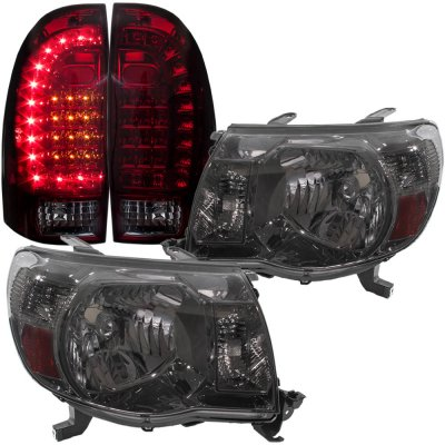 Toyota Tacoma 2005 2017 Smoked Headlights And Tinted Custom Led Tail Lights A128aeka213 Topgearautosport