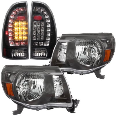 Toyota Tacoma 2005 2017 Black Headlights And Custom Led Tail Lights A12885ip213 Topgearautosport