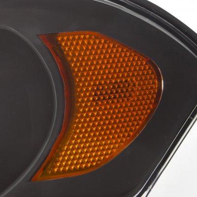 Chevy Impala 2006-2013 Black Euro Headlights