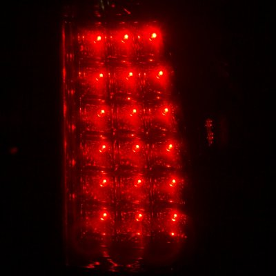 Chevy Silverado 1999-2002 Black Smoked Headlights Set and LED Tail Lights