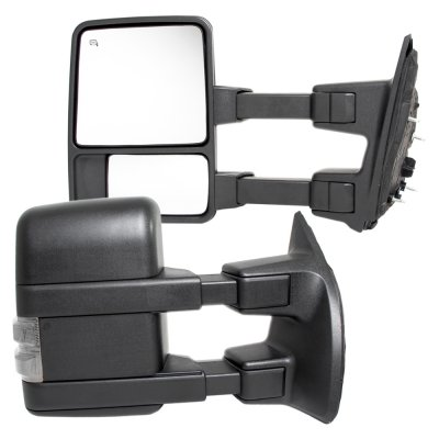 Ford F250 Super Duty 2008-2016 Towing Mirrors Power Heated Clear LED Signal Lights