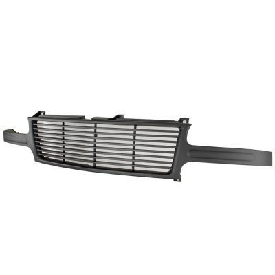 Chevy Silverado 1999-2002 Black Billet Grille and Headlights Bumper Lights
