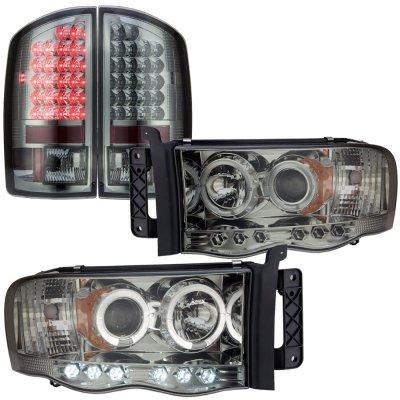 Dodge Ram 3500 2003 2005 Smoked Halo Projector Headlights And Led Tail Lights A103u4vm213 Topgearautosport