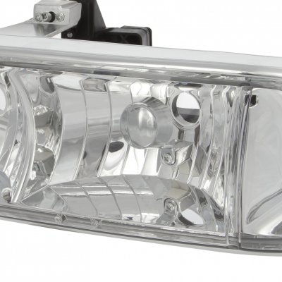 Chevy S10 1998-2004 Clear Euro Headlights