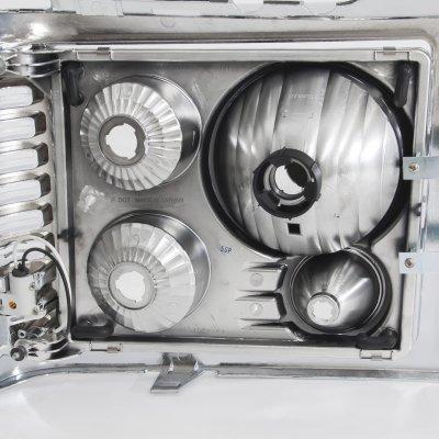GMC Yukon 1994-1999 Chrome Billet Grille and Headlight Conversion Kit