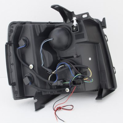 Chevy Silverado 2500HD 2007-2014 Black Halo LED DRL Projector Headlights
