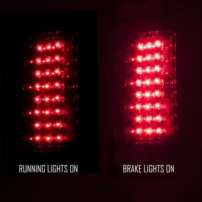 Chevy Silverado 2007-2013 Smoked LED Tail Lights