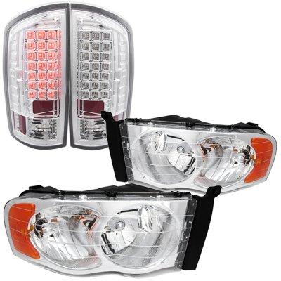 Dodge Ram 2500 2003-2005 Chrome Headlights and LED Tail Lights