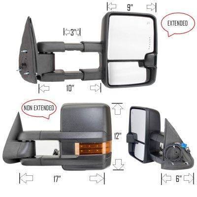 Chevy Silverado 2500 1999-2002 Towing Mirrors LED DRL ...