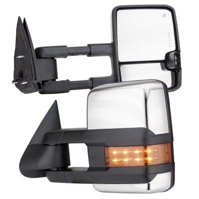 Chevy Silverado 2500 1999 2002 Chrome Towing Mirrors Led