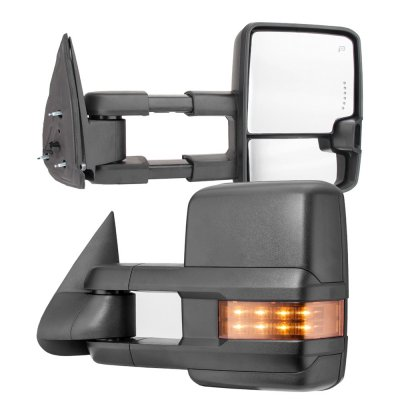 Chevy Silverado 2003-2006 Towing Mirrors LED DRL Lights Power Heated