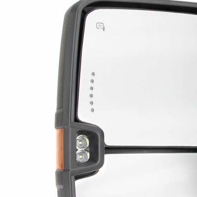 Chevy Silverado 2007-2013 Towing Mirrors LED Lights Power Heated