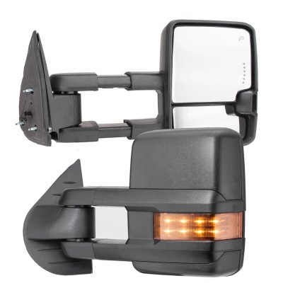 GMC Sierra 2500HD 2007-2014 Towing Mirrors LED DRL Lights Power Heated