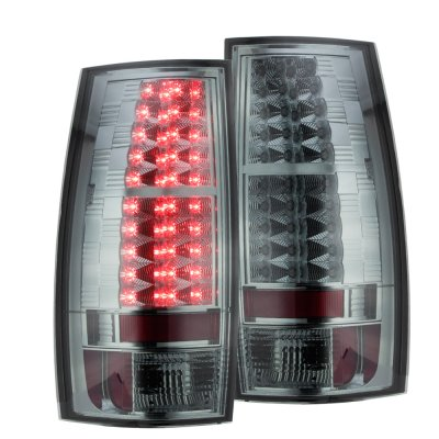 Chevy Suburban 2007-2014 Smoked LED Tail Lights