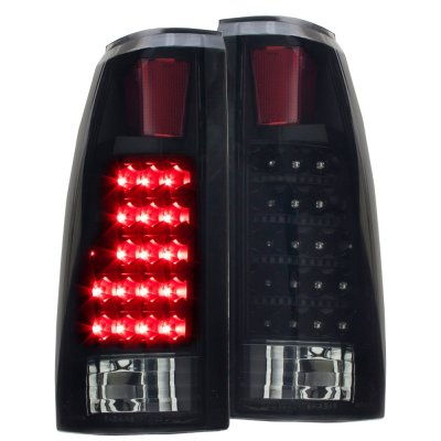 Chevy 3500 Pickup 1988-1998 Black Out LED Tail Lights