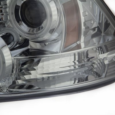 Dodge Ram 2009-2016 Smoked CCFL Halo Projector Headlights LED DRL