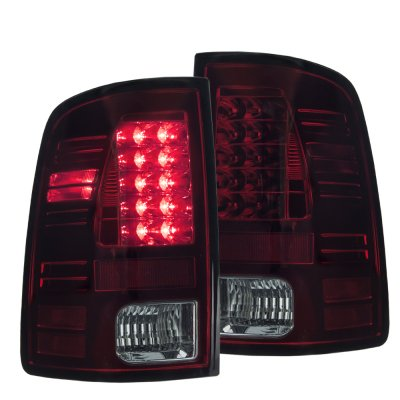 Dodge Ram 2009-2015 Red and Smoked LED Tail Lights