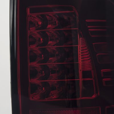 Dodge Ram 2500 2010-2015 Red and Smoked LED Tail Lights