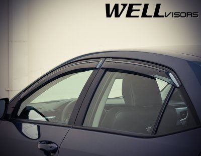 Toyota Corolla 2014 2016 Smoked Side Window Vent Visors