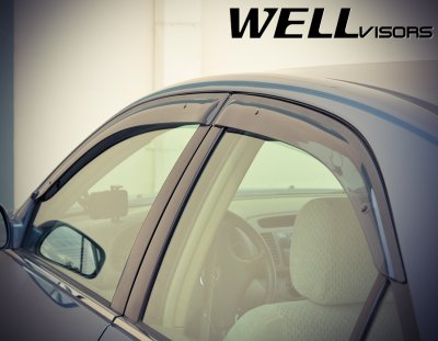 Toyota Camry 2002-2006 Smoked Side Window Vent Visors Deflectors Rain Guard Shade Premium Series