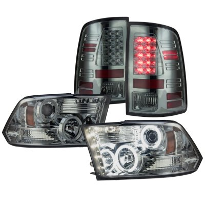Dodge Ram 2009-2018 Smoked Projector Headlights and LED Tail Lights