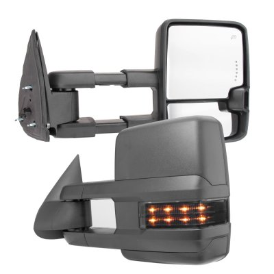 Chevy Silverado 2003 2006 Towing Mirrors Smoked Led Drl