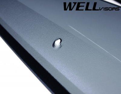 Toyota Highlander 2001-2007 Smoked Side Window Vent Visors Deflectors Rain Guard Shade Chrome Trim