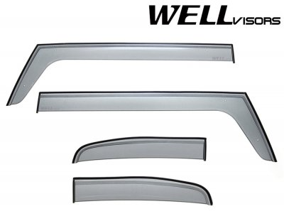 2013 Toyota FJ Cruiser Smoked Side Window Vent Visors Deflectors Rain Guard Shade Premium Series