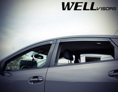 Toyota Prius 2004-2009 Smoked Side Window Vent Visors Deflectors Rain Guard Shade Premium Series