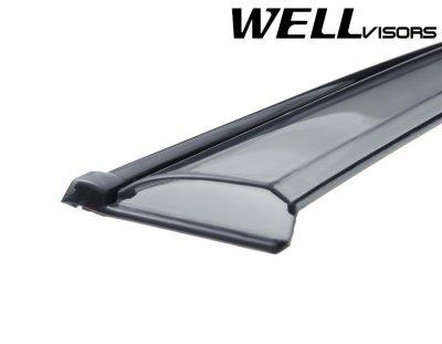 BMW X3 2011-2016 Smoked Side Window Vent Visors Deflectors Rain Guard Shade Black Trim