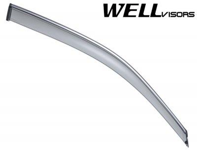 2010 BMW X5 Smoked Side Window Vent Visors Deflectors Rain Guard Shade Chrome Trim
