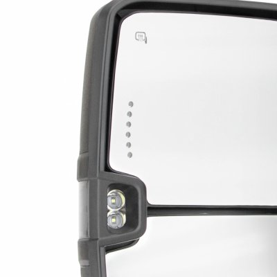 Chevy Silverado 2007-2013 Towing Mirrors Smoked LED Lights Power Heated