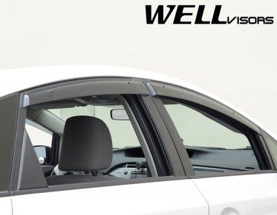 Toyota Prius 2010-2015 Smoked Side Window Vent Visors Deflectors Rain Guard Shade Premium Series