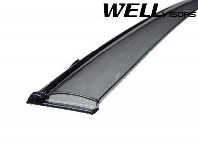 2011 Kia Forte Sedan Smoked Side Window Vent Visors Deflectors Rain Guard Shade Black Trim