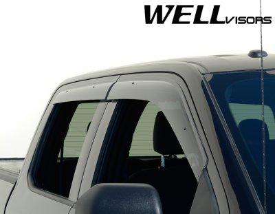 F150 Supercrew Cab >> Ford F150 2015-2016 SuperCrew Cab Smoked Side Window Vent Visors Deflectors Rain Guard Shade ...