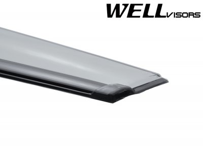 Ford Fusion 2013-2016 Smoked Side Window Vent Visors Deflectors Rain Guard Shade Black Trim