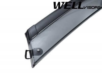 2014 Ford Focus Sedan Smoked Side Window Vent Visors Deflectors Rain Guard Shade Black Trim