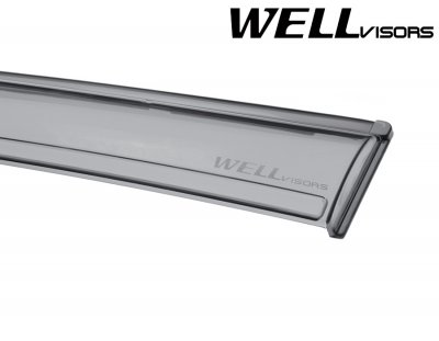 Lexus GX470 2003-2009 Smoked Side Window Vent Visors Deflectors Rain Guard Shade Black Trim