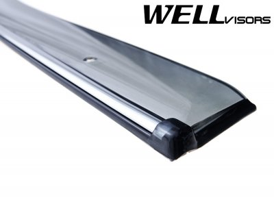 Lexus ES300 2002-2006 Smoked Side Window Vent Visors Deflectors Rain Guard Shade Chrome Trim