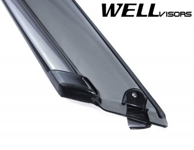 Lexus ES350 2013-2016 Smoked Side Window Vent Visors Deflectors Rain Guard Shade Chrome Trim
