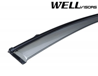 2010 Hyundai Accent Smoked Side Window Vent Visors Deflectors Rain Guard Shade Black Trim