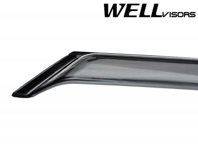 VW Golf Hatchback 2006-2009 Smoked Side Window Vent Visors Deflectors Rain Guard Shade Premium Series