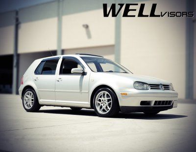 2000 VW Golf Hatchback Smoked Side Window Vent Visors Deflectors Rain Guard Shade Premium Series