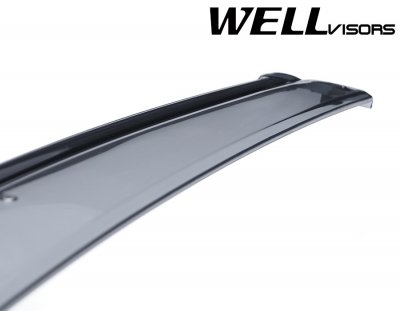 Nissan Murano 4-Door 2009-2014 Smoked Side Window Vent Visors Deflectors Rain Guard Shade Black Trim