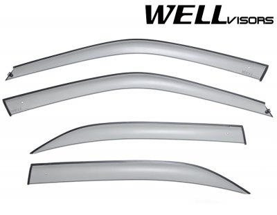 Honda Civic Sedan 1996-2000 Smoked Side Window Vent Visors Deflectors Rain Guard Shade Premium Series