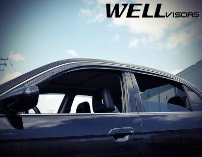 Honda Civic Sedan 2001-2005 Smoked Side Window Vent Visors Deflectors Rain Guard Shade Aerodyn Series