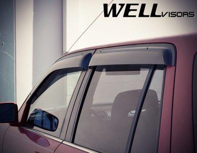 Honda CRV 1997-2001 Smoked Side Window Vent Visors Deflectors Rain Guard Shade Premium Series